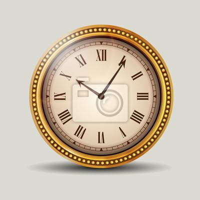 Reloj en marco antiguo del oro pinturas para la pared • cuadros ...