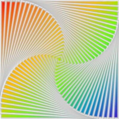 Cuadro Remolino Diseño multicolor de fondo la ilusión de movimiento
