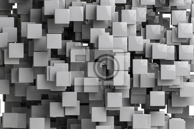 Cuadro Resumen cubos geométricos de fondo 3d hacer
