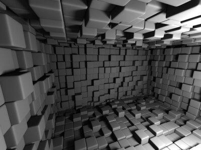 Cuadro Resumen Dark Cubes Wall Room de fondo