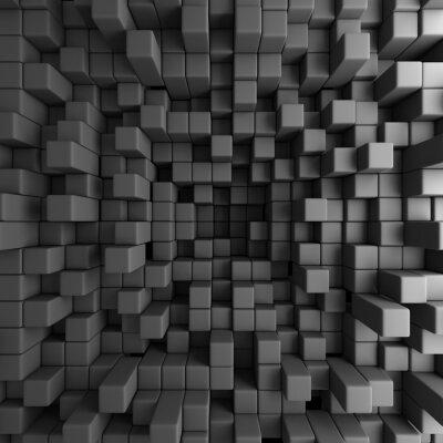 Cuadro Resumen Fondo Cubos 3D Bloques Wallpaper