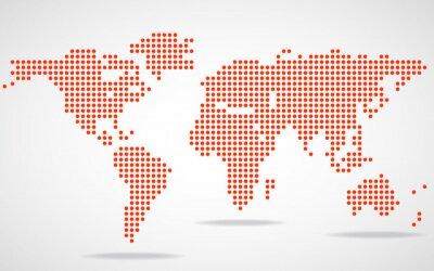 Cuadro Resumen mapa del mundo de puntos redondos. Ilustración del vector. Eps 10