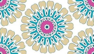 Cuadro Resumen Patrón floral geométrico transparente de puntos sobre un fondo blanco. Vector