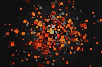 Cuadro Resumen representación 3D de cubos voladores.