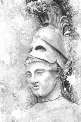 Cuadro Retrato artístico de Pericles con textura de fondo, classica
