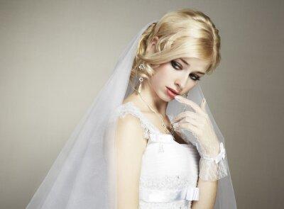 Cuadro Retrato de boda de la novia hermosa joven