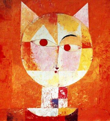 Cuadro Retrato de color de un gato