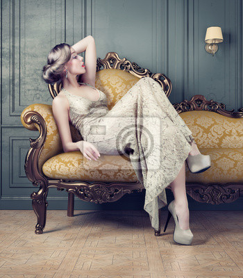 Cuadro Retrato de mujer hermosa