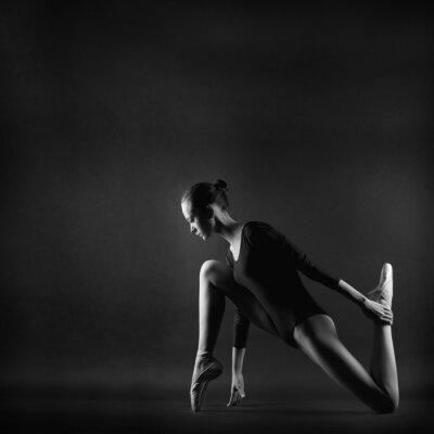 Cuadro Retrato de mujer joven y bella gimnasta