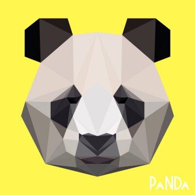 Cuadro Retrato de panda geométrica geométrica