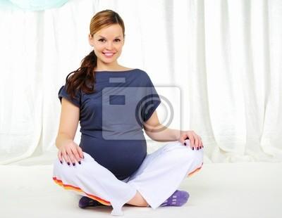 Retrato de una joven embarazada