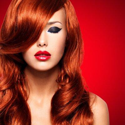 Cuadro Retrato de una mujer con los pelos rojos largos