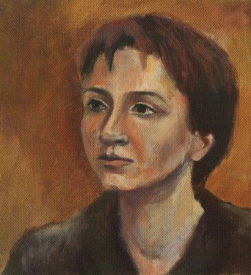 Cuadro Retrato de una mujer joven. Pintura al óleo