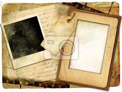 retro de fondo con los marcos y cartas antiguas