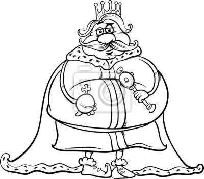 Rey De Grasa Para Colorear De Dibujos Animados Pinturas Para La