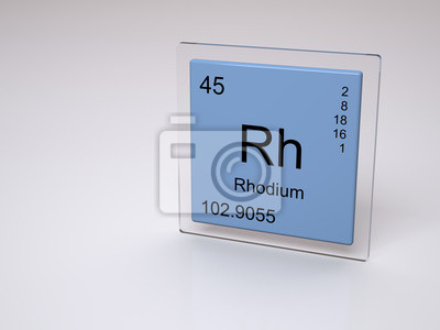 Rodio smbolo rh elemento qumico de la tabla peridica pinturas cuadro rodio smbolo rh elemento qumico de la tabla peridica urtaz Image collections