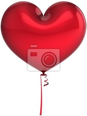 Rojo total Globo del corazón. I Love you abstracto