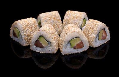 Cuadro rollos de sushi