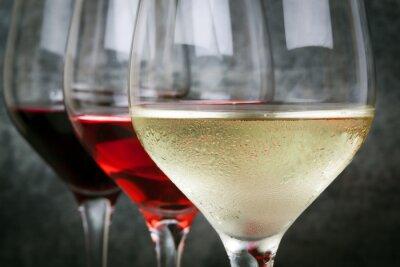 Cuadro Rosa blanca y vino tinto