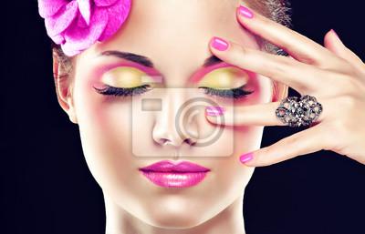 Rosa Componen La Pinturas Para La Pared Cuadros Salon De Belleza