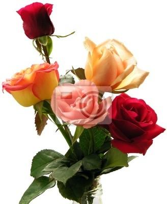 Rosas Bonitas Pinturas Para La Pared Cuadros Escarlata Rosas