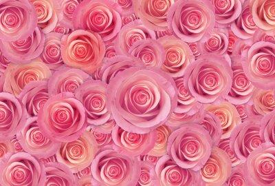 Cuadro Rosas rosas flor de fondo, feliz día de San Valentín