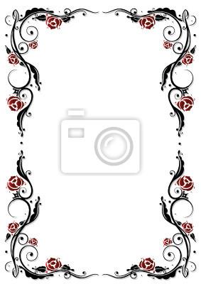 Cuadro Rose Rosas Marcos Zarcillo Flor Flores Hojas