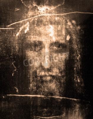 Cuadro Rostro de Jesús del Sudario de Turín