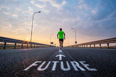 Cuadro Run in the future