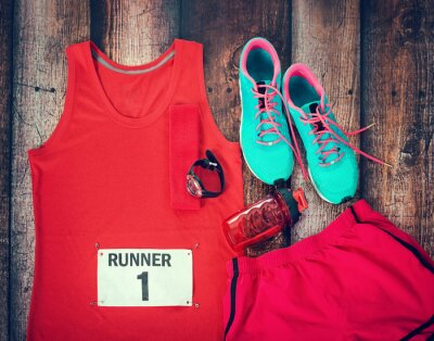 Cuadro Running gear laid out ready for race day