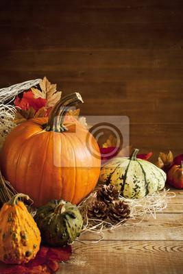 Rústico otoño bodegón con copia espacio