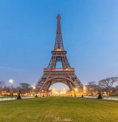 Cuadro Salida del sol de la torre Eiffel
