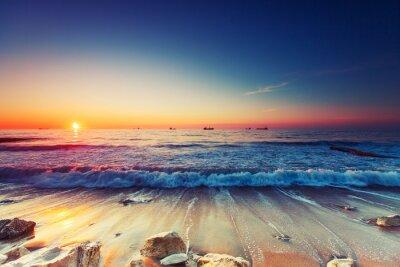 Cuadro Salida del sol sobre el mar