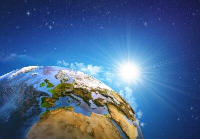 Cuadro Salida del sol sobre la Tierra