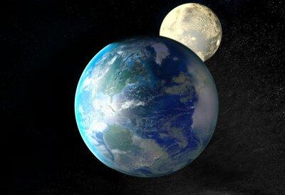 Cuadro Salida del sol sobre la Tierra vista desde el espacio