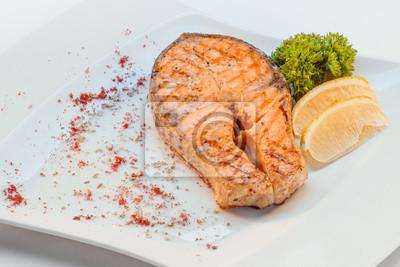 salmón con limón