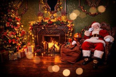Santa in Christmas interior