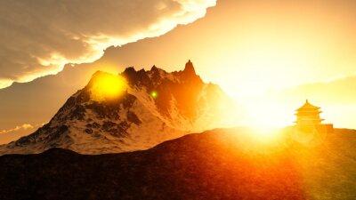 Cuadro Santuario budista en las montañas