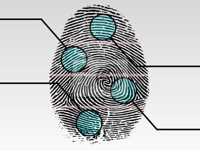 Scannen Fingerabdruck