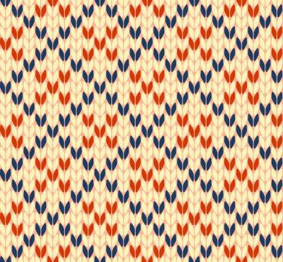Cuadro Seamless patrón de tejido de punto