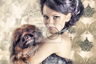 señora con el perro