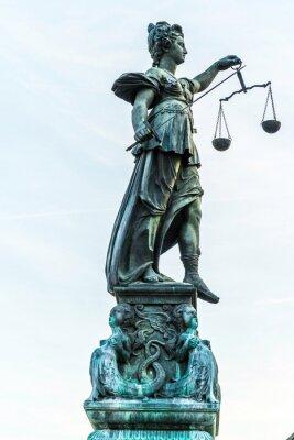 Cuadro Señora Justicia en Frankfurt