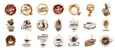 Cuadro Set of coffee logos. Vector illustration on white background