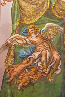 Cuadro Seville - fresco of angel with the roses