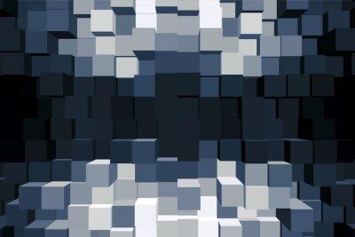 Cuadro Sfondo cubico monocromatico.