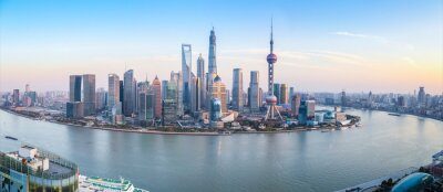 Cuadro Shanghai horizonte vista panorámica