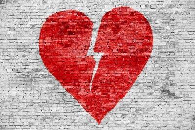 Cuadro Shape of broken heart