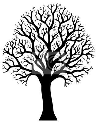Silueta de árbol sin hojas 2 pinturas para la pared • cuadros ...