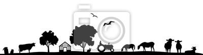 Silueta Feld und Tiere