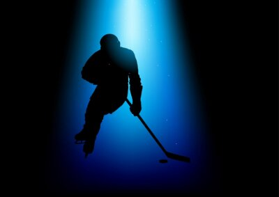 Cuadro Silueta ilustración de un jugador de hockey
